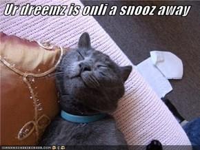 Ur dreemz is onli a snooz away