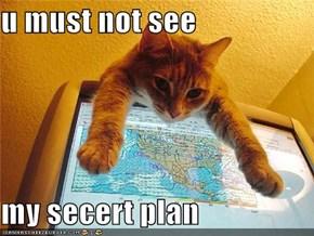 u must not see  my secert plan