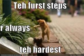 Teh furst steps r always teh hardest