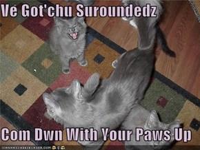 Ve Got'chu Suroundedz  Com Dwn With Your Paws Up