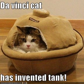 Da vinci cat  has invented tank!