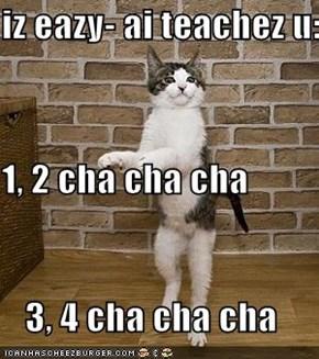 iz eazy- ai teachez u: 1, 2 cha cha cha 3, 4 cha cha cha