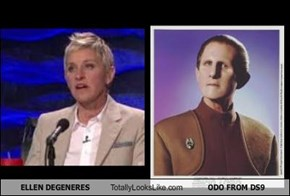 ELLEN DEGENERES Totally Looks Like ODO FROM DS9