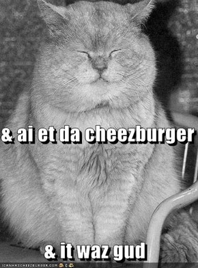 & ai et da cheezburger & it waz gud