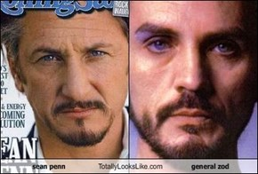 sean penn Totally Looks Like general zod