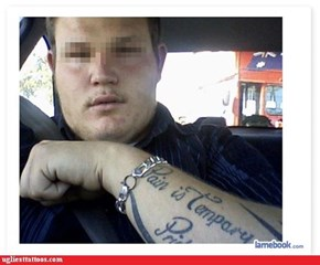 """Bet He Wishes the Tattoo Was """"Tempary"""""""