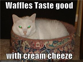 Waffles Taste good  with cream cheeze