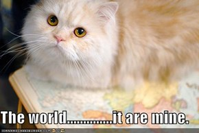 The world..............it are mine.
