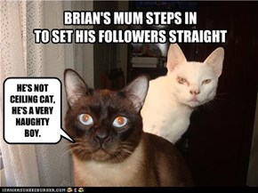 BRIAN'S MUM STEPS IN  TO SET HIS FOLLOWERS STRAIGHT