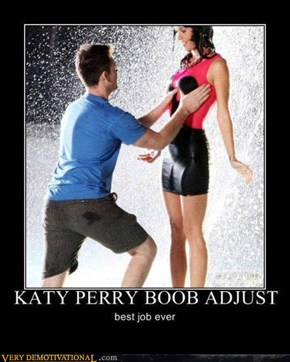 KATY PERRY BOOB ADJUST