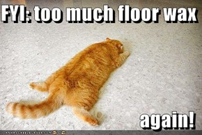 FYI: too much floor wax  again!