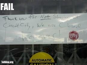 circut city fail