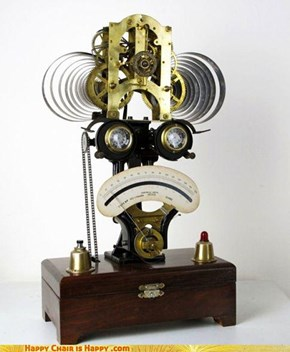 Sad Robot Clock of the 1800s
