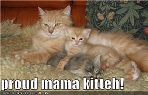 proud mama kitteh!