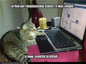 ai fixd yor relashunship status.  it wuz 'single'.