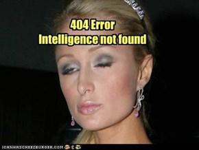 404 Error Intelligence not found