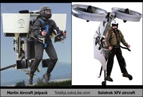 Martin Aircraft jetpack Totally Looks Like Solotrek XFV aircraft