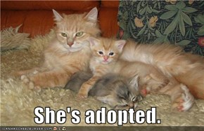 She's adopted.