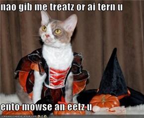 nao gib me treatz or ai tern u  ento mowse an eetz u