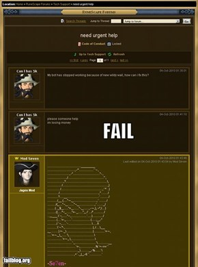 RuneScape Cheating Fail