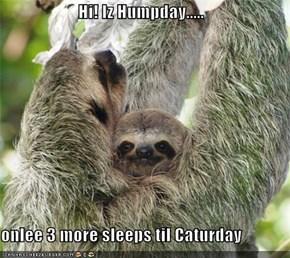 Hi! Iz Humpday.....  onlee 3 more sleeps til Caturday