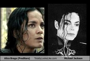Alice Braga (Preditors) Totally Looks Like Michael Jackson