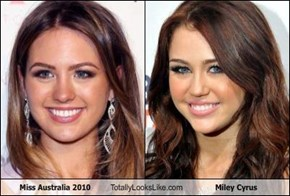 Miss Australia 2010   Totally Looks Like Miley Cyrus