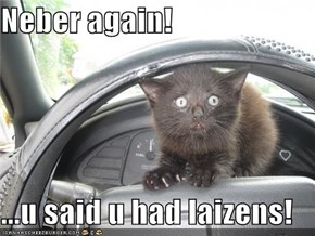 Neber again!  ...u said u had laizens!