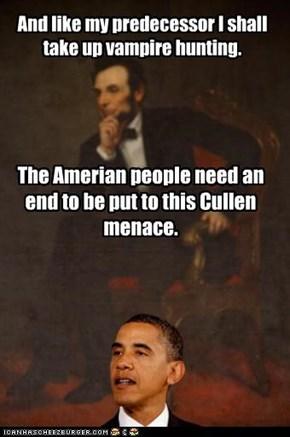 Obama, Vampire Hunter
