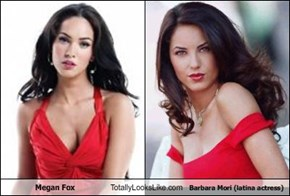 Megan Fox Totally Looks Like Barbara Mori (latina actress)
