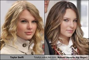 Taylor Swift  Totally Looks Like Belinda (Mexican Pop Singer)