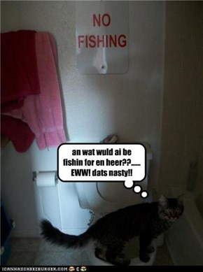 an wat wuld ai be fishin for en heer??...... EWW! dats nasty!!