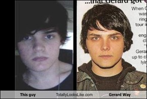 This guy Totally Looks Like Gerard Way