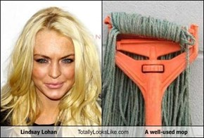 Lindsay Lohan Totally Looks Like A well-used mop