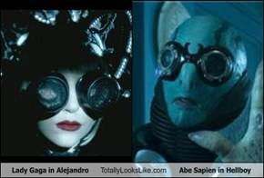 Lady Gaga in Alejandro Totally Looks Like Abe Sapien in Hellboy