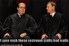 I sure wish these restroom stalls had walls