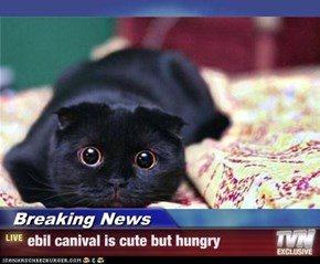 Breaking News - ebil canival is cute but hungry