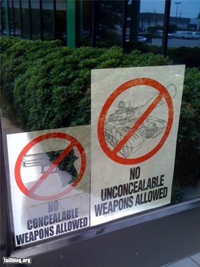 Oddly Specific: Weapons