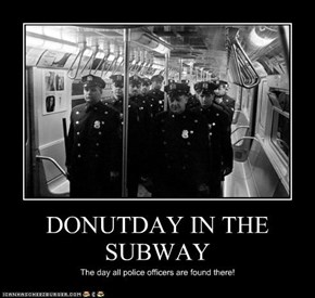 DONUTDAY IN THE SUBWAY