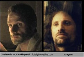Andrew Lincoln in Walking Dead Totally Looks Like Aragorn