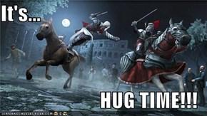 It's...  HUG TIME!!!