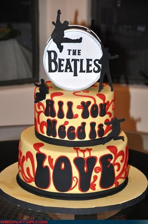 Beatles Wedding Cake!