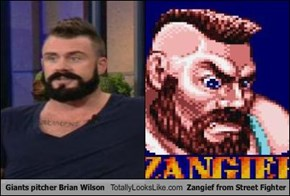 Giants pitcher Brian Wilson Totally Looks Like Zangief from Street Fighter