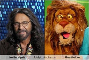 Leo the Hippie Totally Looks Like Theo the Lion
