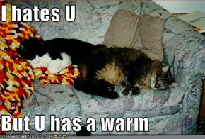 I hates U  But U has a warm
