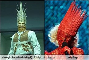 showgirl hat (dead rising2) Totally Looks Like Lady Gaga