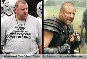 Raider coach Tom Cable Totally Looks Like Actor Ray Winstone