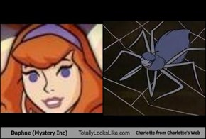 Daphne (Mystery Inc) Totally Looks Like Charlotte from Charlotte's Web