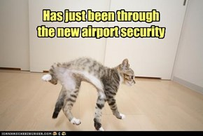 Has just been through  the new airport security