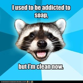 LAME PUN COON: I used to be addicted to soap,